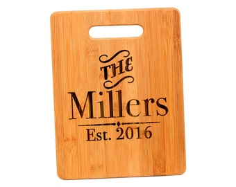 Personalized Bamboo Cutting Board - Personalized Wedding Gift - Custom Cutting Board