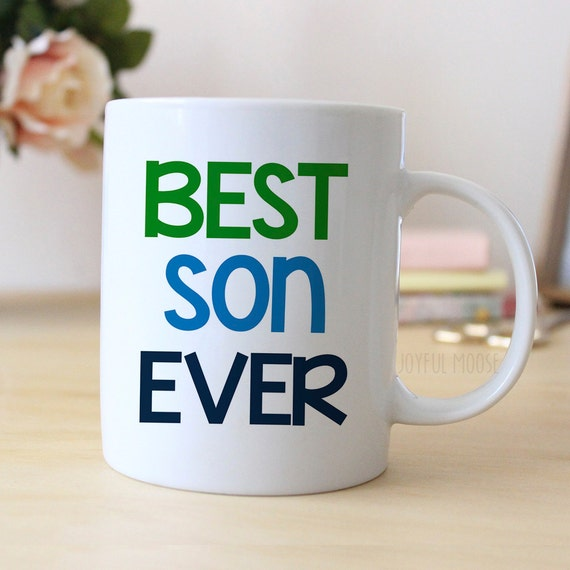 Best son ever coffee mug christmas gift for son by joyfulmoose Best coffee cups ever