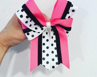 Custom color polkadot bow