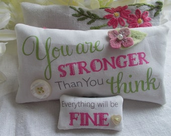 Inspirational Lavender Sachet set - fragrant sachets, lavender sachets, lavender pillow, quote