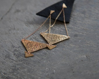 Modern Pyramid Stud Earrings