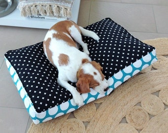 Pet Bed Cover - Spot Aqua - 3 sizes (S,M,L)