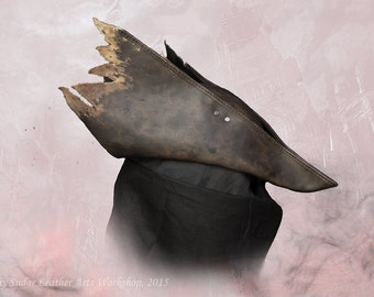 Bloodborne Hunter Leather Hat replica / LARP / Fantasy style / cosplay / handmade