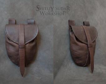 Medieval Leather Bag / Belt Bag / Fantasy style / hand-stitched / handmade