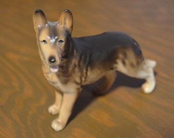 German Shepherd Figurine, Vintage German Shepherd, Made in Japan