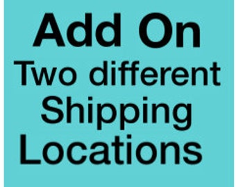 Add On - Two Different Shipping Locations - USA Regular Mail Only