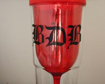 Black Dagger Brotherhood Wine Tumbler With Lid