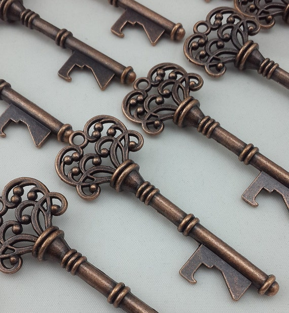 40x copper antique skeleton keys bottle opener by vintage86keys. Black Bedroom Furniture Sets. Home Design Ideas