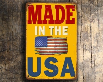 Made in the USA Sign, Made in the USA Signs, Vintage style Made in the usa Sign, Made in America Sign, Made in usa, American Made, USA made