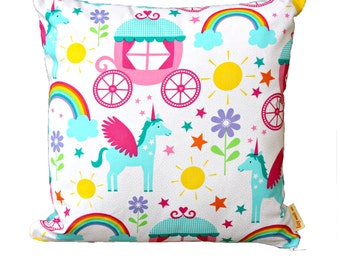 "14"" Unicorn Rainbow Cushion"