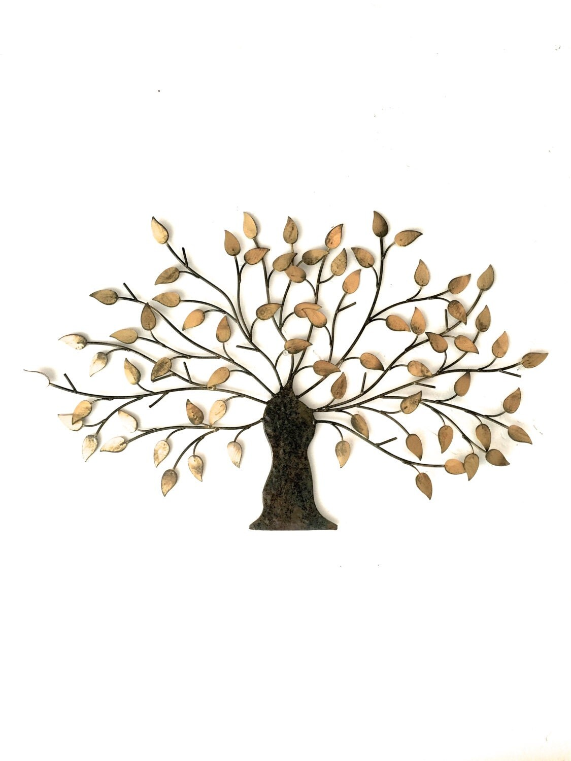 Metal wall art metal wall decor metal tree wall art tree for Tree wall art