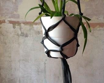 bike tube hanging planter