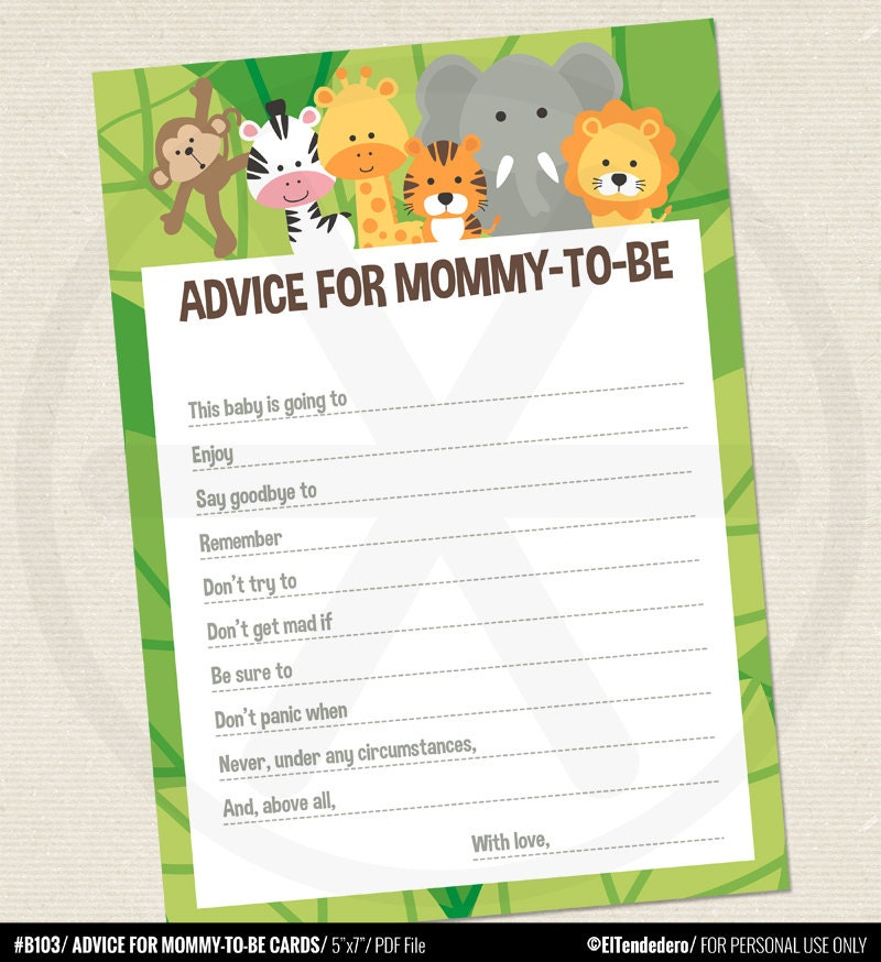 Modest image throughout mommy advice cards printable