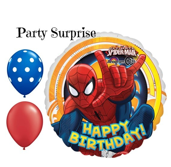 Spiderman Birthday Party Balloons, Boy Birthday Party