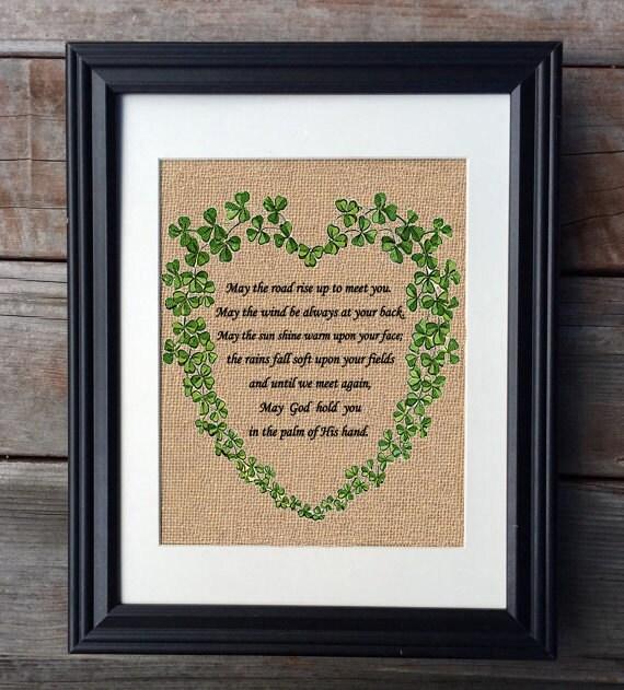 Irish Wedding Blessing Gifts: Irish Wedding Burlap Print Wedding Gift Anniversary Gift