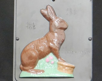 "7 1/4"" Easter Bunny Facing Right Chocolate Candy Mold Easter 805"