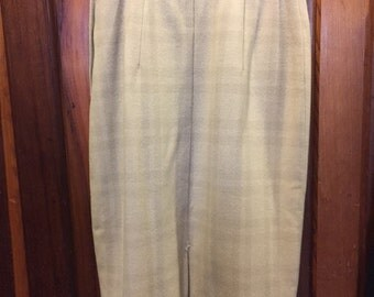 1960S TAILORED BY COLEBROOK // Size S Beige High Waisted Skirt