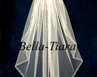 FREE SHIPPING, cathedral beaded veil, cathedral veils, cascading cathedral veil, cathedral wedding veil, beaded cathedral veil, chapel veil