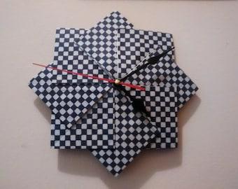 Wall clock, origami, paper