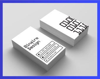 Premade business card design (front/back)