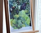 Jungle. 297 mm X 210 mm (11.7 in X 8.3 in) digital print