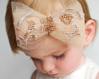Gorgeous Handmade Baby Headband With Tulle Bow