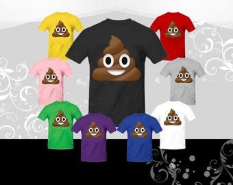 Poop Emoji T-shirt (U+1F4A9)