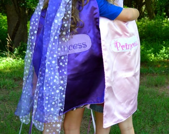 Princess Cape Set with wand and crown.