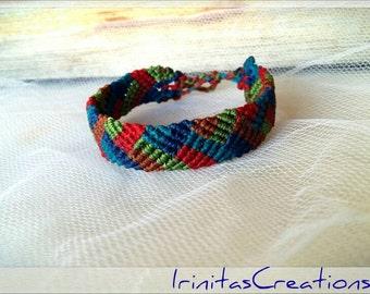 Macrame bracelet for men/friendship bracelet/surf  bracelet/adjustable/μακραμέ ανδρικό  βραχιόλι
