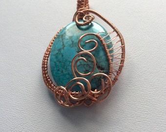 Dyed Turquoise MAGNESITE pendant