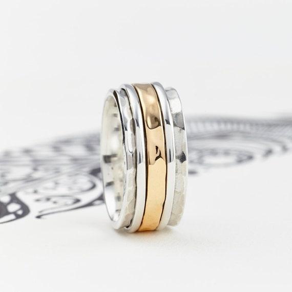 men 39 s karma spinning ring spinner ring by charlotteswebetsy. Black Bedroom Furniture Sets. Home Design Ideas