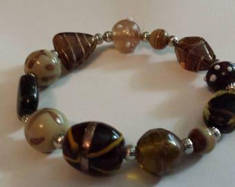 Bracelet, stretch, glass beads