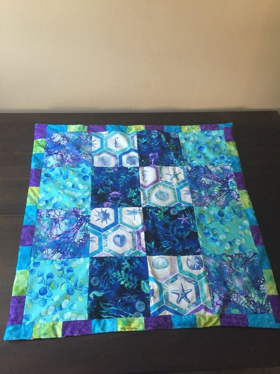 Quilting Patterns Beach Theme : Items similar to Beach themed quilt on Etsy
