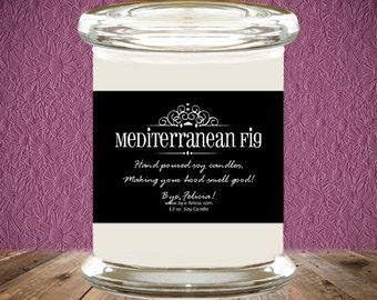 Mediterranean Fig Scented Soy Candle - scented candles, soy candles, scented soy candle, natural candles, soy wax candles, fig candle
