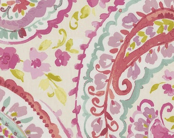 Watercolor Paisley Fabric - By The Yard - Girl / Modern / Fabric