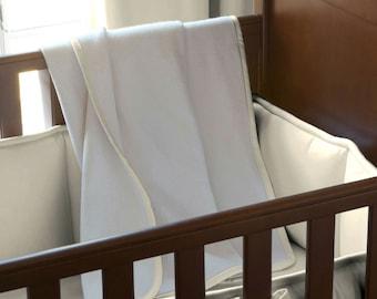 Boy Baby Bedding / Girl Baby Bedding / Gender Neutral Baby Bedding: Natural Organic Crib Blanket by Carousel Designs
