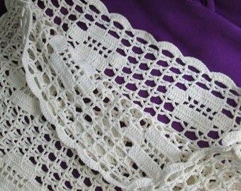 Vintage Crocheted Pillow Cover