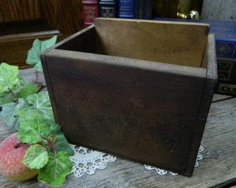 Antique Rustic Handmade Wood Hardware Box