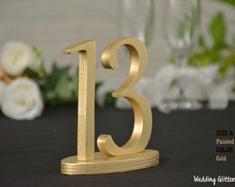 Wedding Table Numbers Gold, Wedding Table Numbers, SET 1/40, Elegant Wedding Table Numbers, Gold Table Numbers, Silver Table Numbers