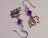 special Order for Becky Hinton Elephant dangle with Red Siam Bicone