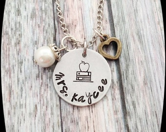 Teacher Gift, School Worker Gift, Teacher Necklace, Jewelry, Education Gift, Special Education