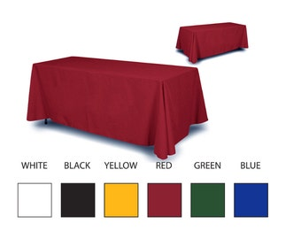 Solid Color Table Cloth 8 foot table