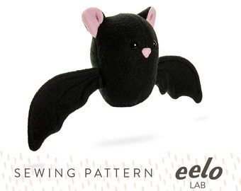 Sewing Pattern PDF for Stuffed Animal -- Stella the Bat