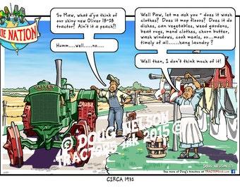 "8.5""x11"" Color Print of Ollie Nation Cartoon. (ON11- 18-28)"