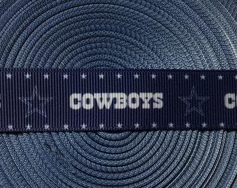 3 Yards of Dallas Cowboys 7/8 Grosgrain Ribbon