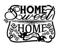 Home Sweet Home Handlettered Chalkboard Stencil