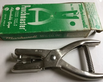 Vintage Markwell No.100 Punchmaster Ticket Punch Loose Leaf Paper Punch