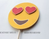 Face with Heart shaped eyes emoji | Photo Booth Props | Emoji Party | Emoji Party Supplies | Emoji | Emoji Props
