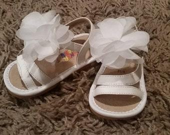 White Squeaky Flower Sandal