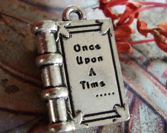 Once Upon a Time book charm,word charm,Fairytale charm
